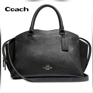 Coach Black Leather Satchel NWOT!